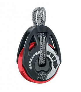 Poulie winch 57mm T2 Soft-Attach Ratchamatic® - Red Sheave