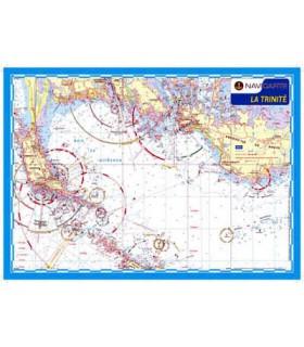 Carte marine plastifiée A3 La Trinité