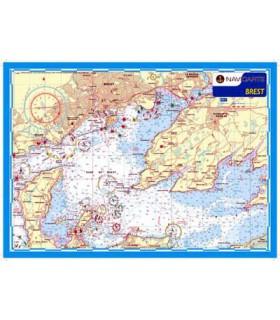 Carte marine plastifiée A3 Brest