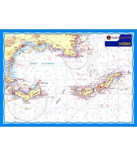 Carte marine plastifiée A3 Hyeres