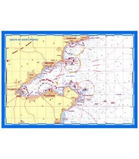 Carte marine plastifiée A3 Golfe de St Tropez