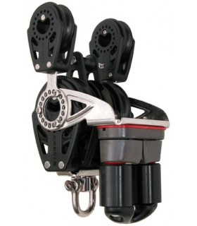 Poulie triple winch 57mm double 40mm Carbo Ratchamatic