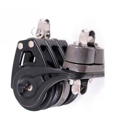 Poulie winch 57mm Organic triple ringot taquet