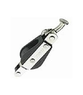 Poulie simple ringot 27mm avec clé de hale bas