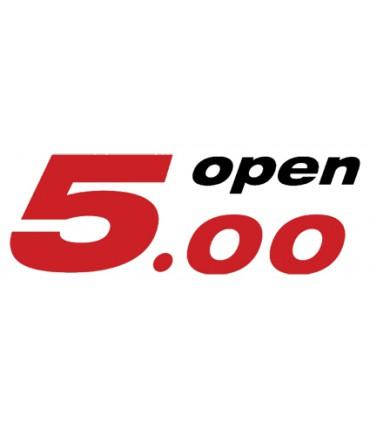 Lame de safran Open 5.00 finie avec deux inserts