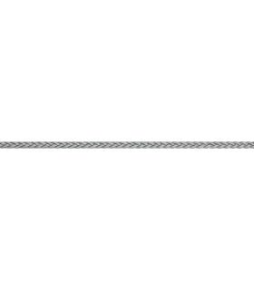 Polyester tressé 4mm Argent