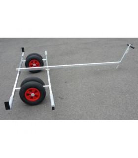 Chariot mise à l'eau cata max 220cm larg. alu 4 roues timon