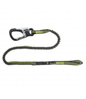 Longe élastique 2m avec mousqueton et loop