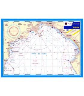 Carte marine plastifiée A3 Palma
