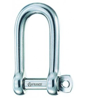 Manille longue 4mm libre forgée inox