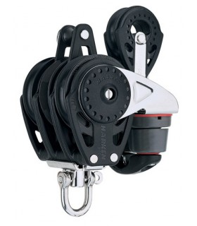 Poulie winch 57mm triple ringot /poulie simple 40mm Carbo Ratchamatic