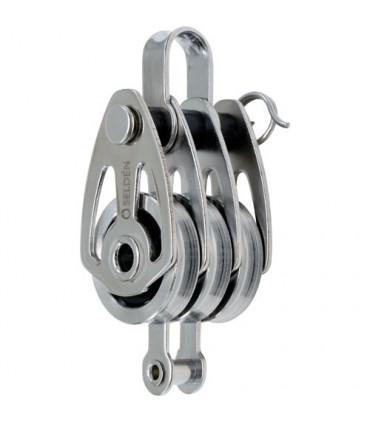 Poulie triple ringot cable 25mm inox à billes