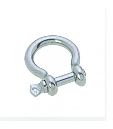 Manille lyre 4mm forgée inox
